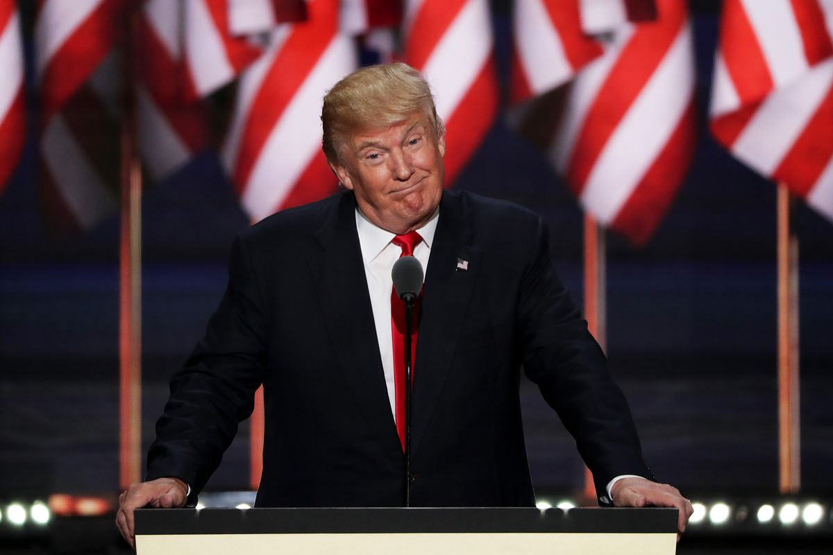 Donald Trump speaks at the 2016 Republican National Convention.