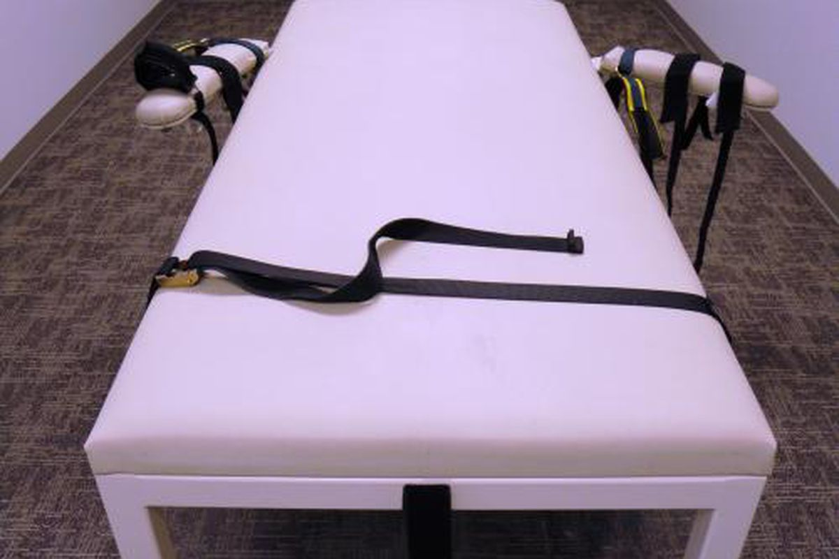 Execution table at Idaho State Department of Corrections