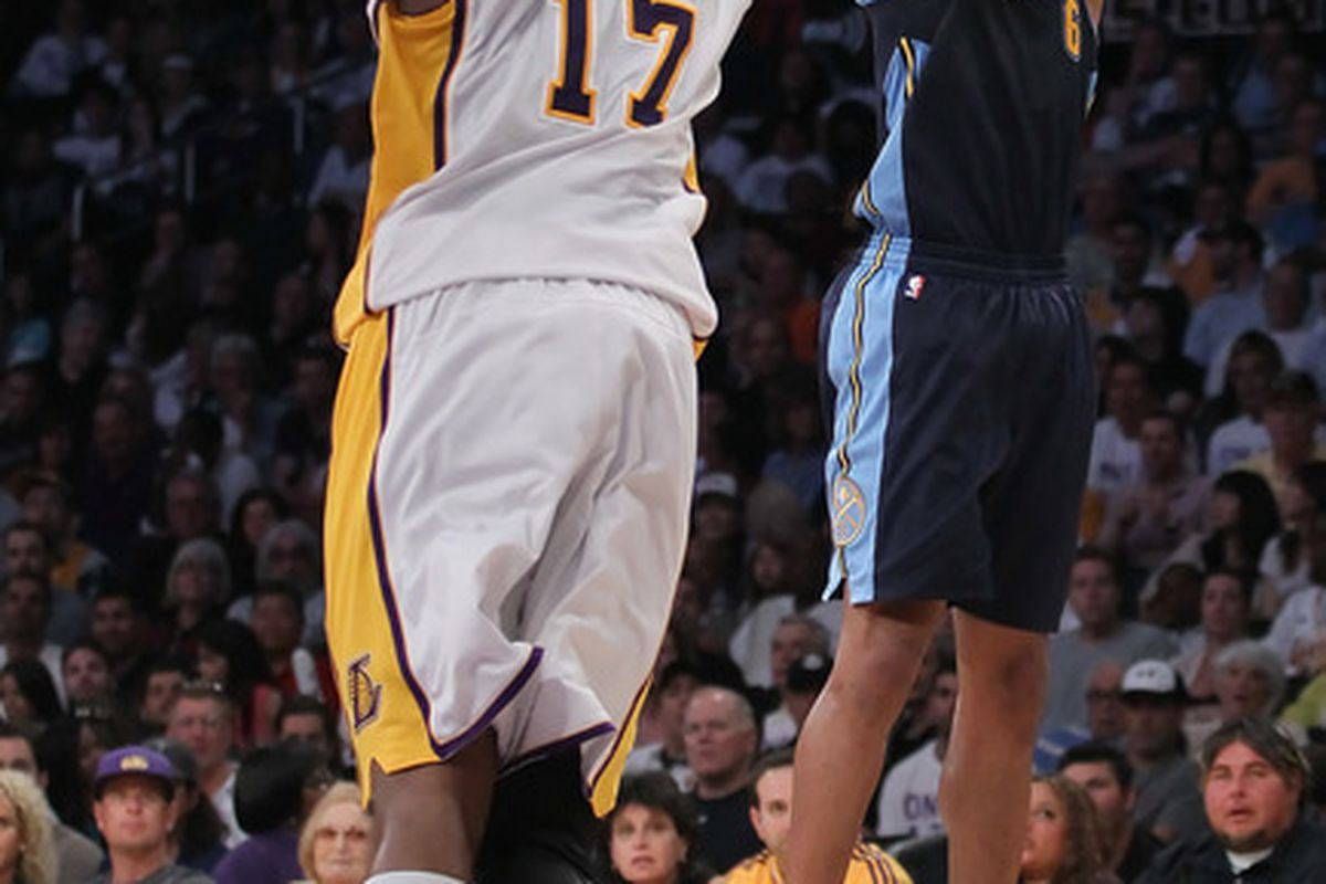 Andrew Bynum and Arron Afflalo