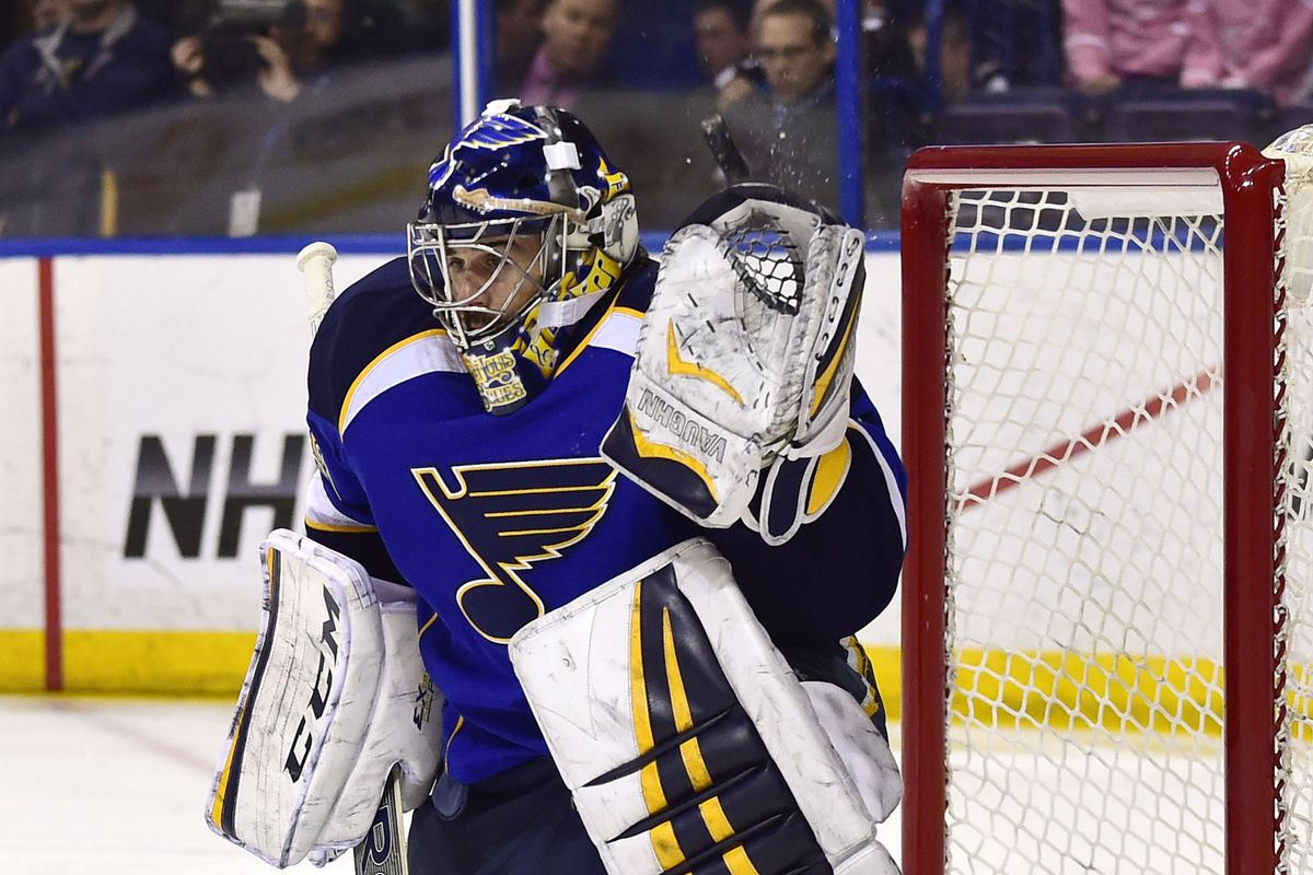 Ryan Miller's shakiness may be of concern to the Blues.