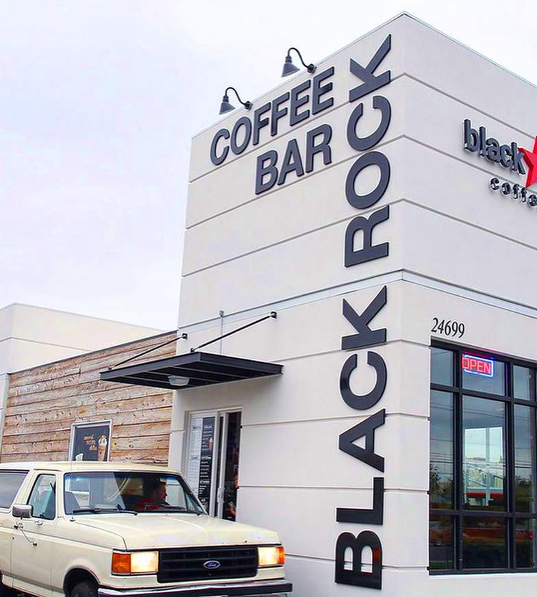 One of three local drive-thru outlets for the Black Rock Coffee Bar.