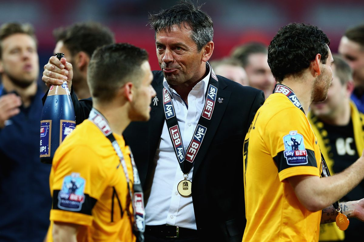 Phil Brown looking perfectly normal while celebrating Southend United's promotion