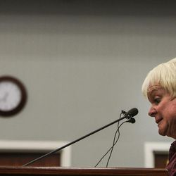 West Jordan resident Kathy Hilton speaks during a City Council meeting at West Jordan City Hall on Wednesday, Aug. 10, 2016.