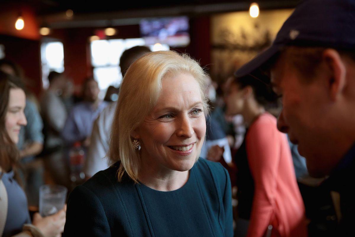 Democratic Presidential Candidate New York Sen. Kirsten Gillibrand Campaigns In Des Moines, Iowa
