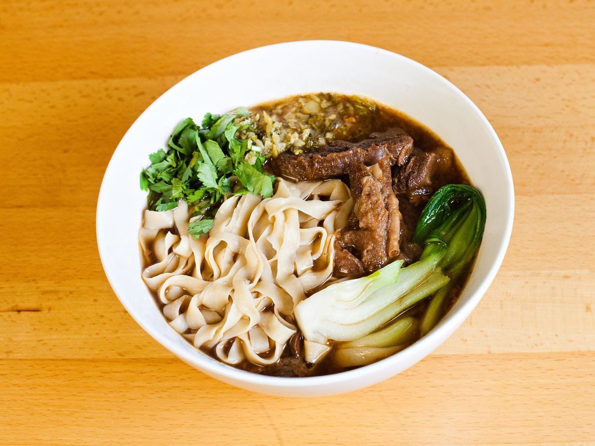The red-braised beef noodles from Xian