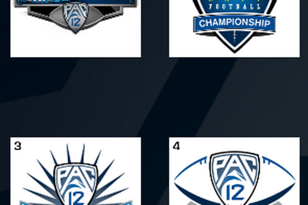 The Pac-10 is allowing fans to pick the logo for the Pac-12 Football Championship Game via popular vote. We break down these four contenders.