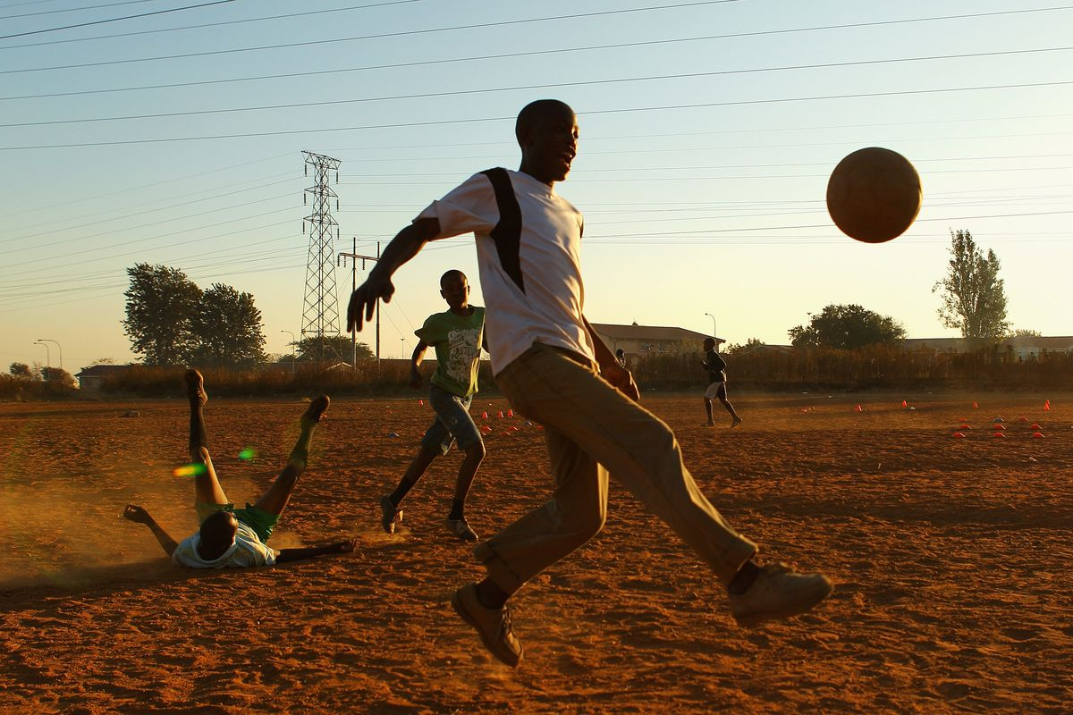 Kids Football in Soweto-2010 FIFA World Cup