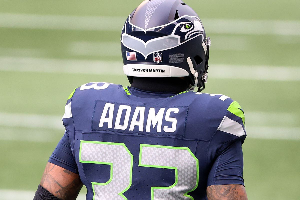 Jamal Adams #33 of the Seattle Seahawks looks on before their game against the Los Angeles Rams at Lumen Field on December 27, 2020 in Seattle, Washington.