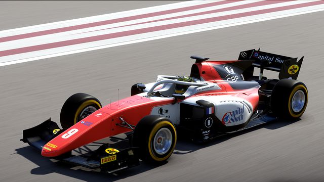Dorian Boccolacci of MP Motorsport in the 2018 Formula Two Championship. This is the first year the series has appeared in F1's video game.