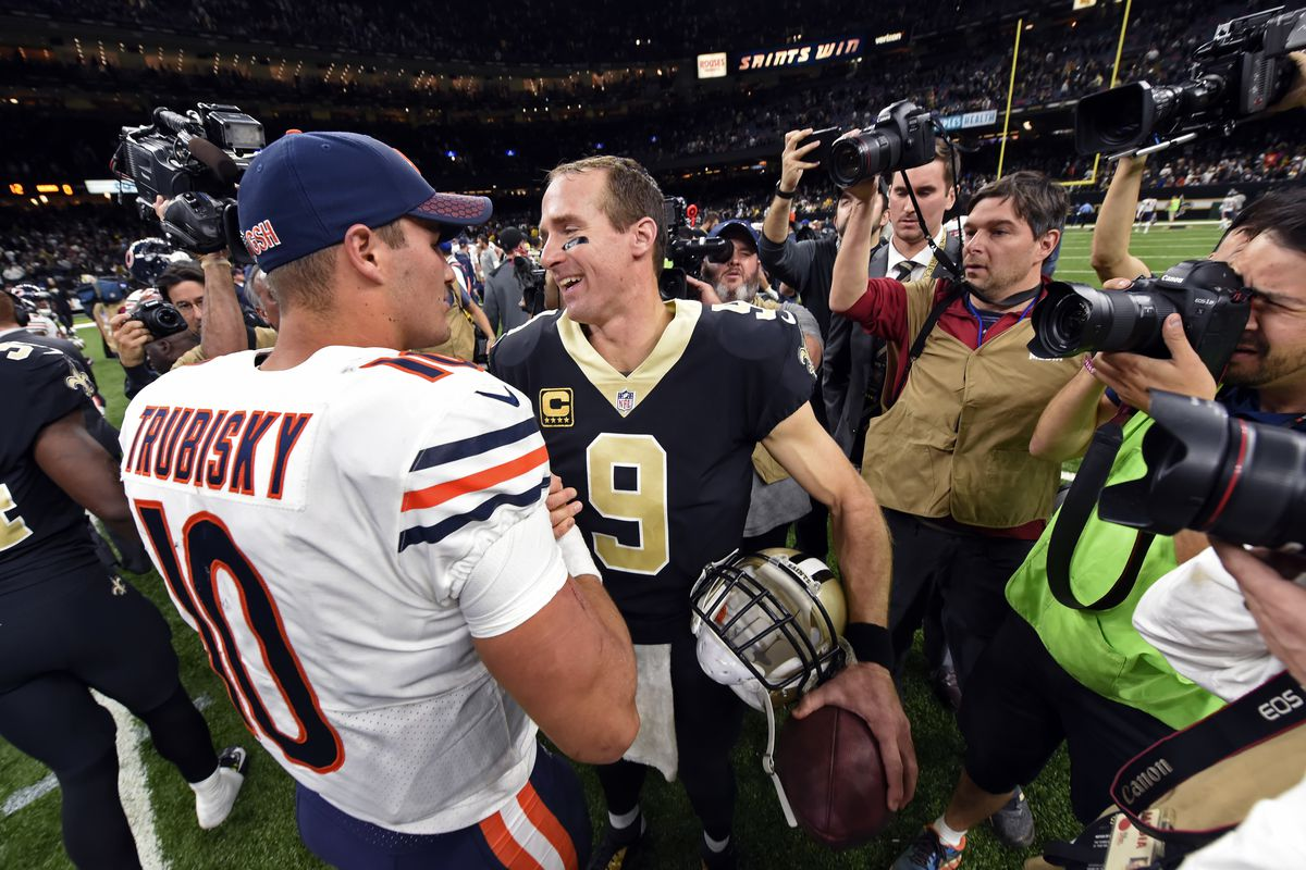 Trubisky development hardly a Brees, but could be