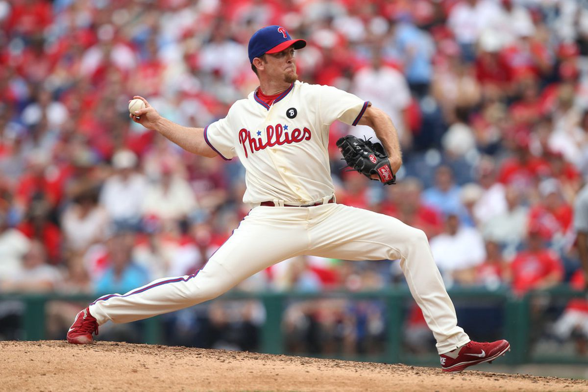 Brad Lidge, the Harbinger of Death. (Photo by Hunter Martin/Getty Images)
