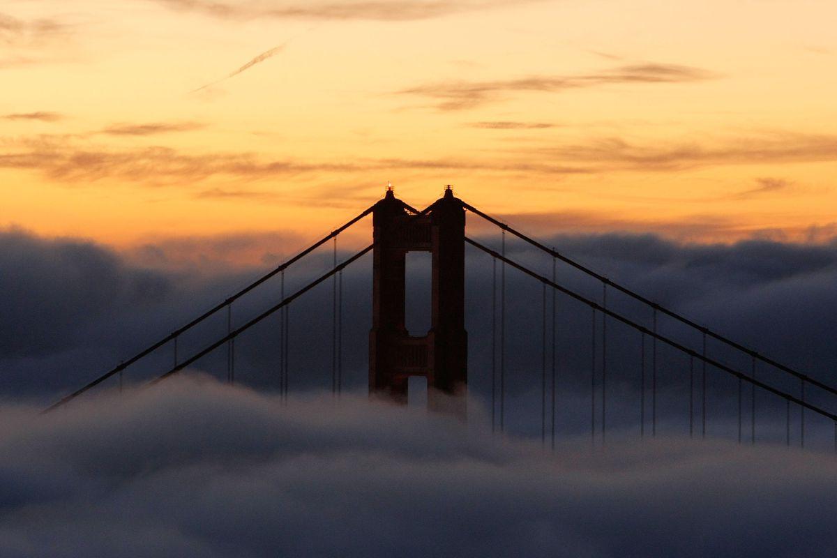 Fog Blankets The Golden Gate Bridge