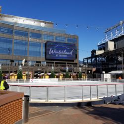 View of ice rink at the Park at Wrigley