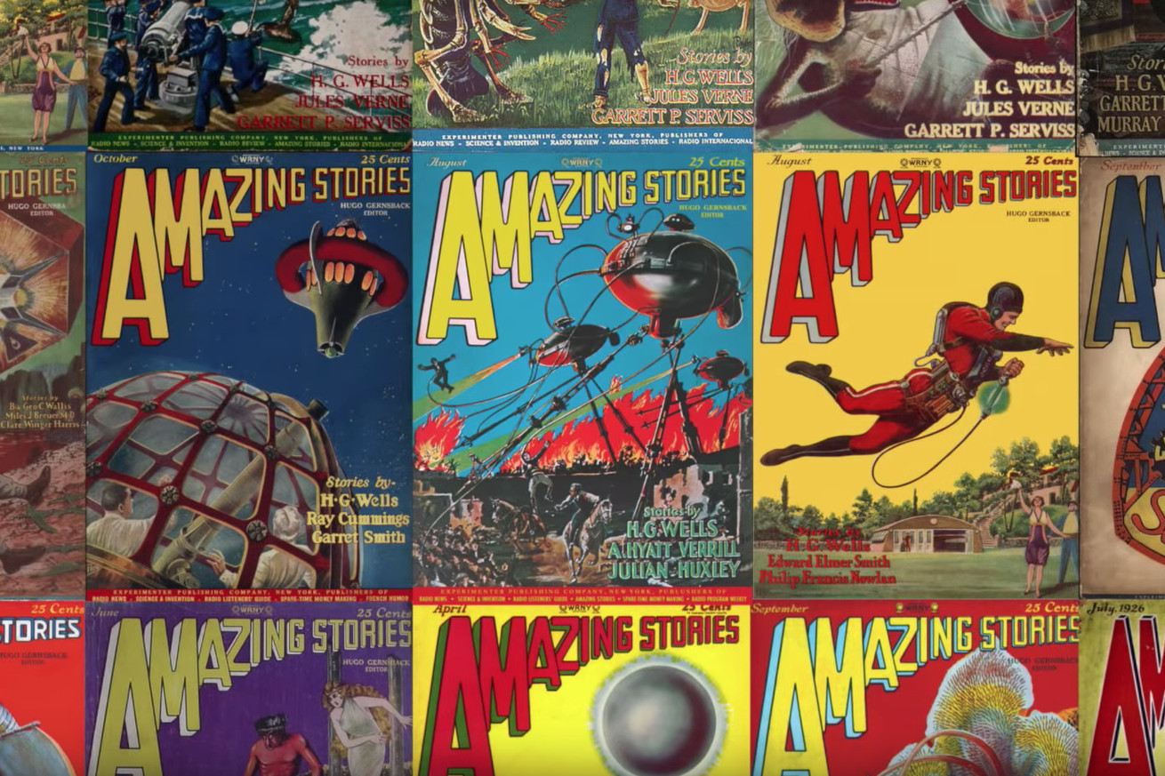 this video shows how surrealist cover art gave us the sci fi genre we know today
