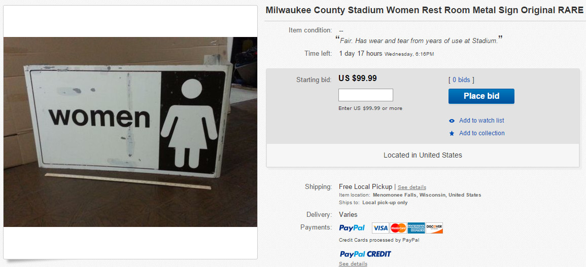 Brewers Potty Sign