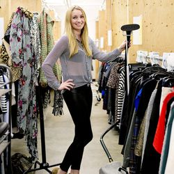 <b>Kristen Benner</b>, Business Development, wearing Nine West Heels, BGBGeneration leggings from Le Tote, a Zara button down shirt, and a Le Tote necklace.<br><br> <b>Your closet is on fire! What three items do you save from the flames?</b><br> My 2012