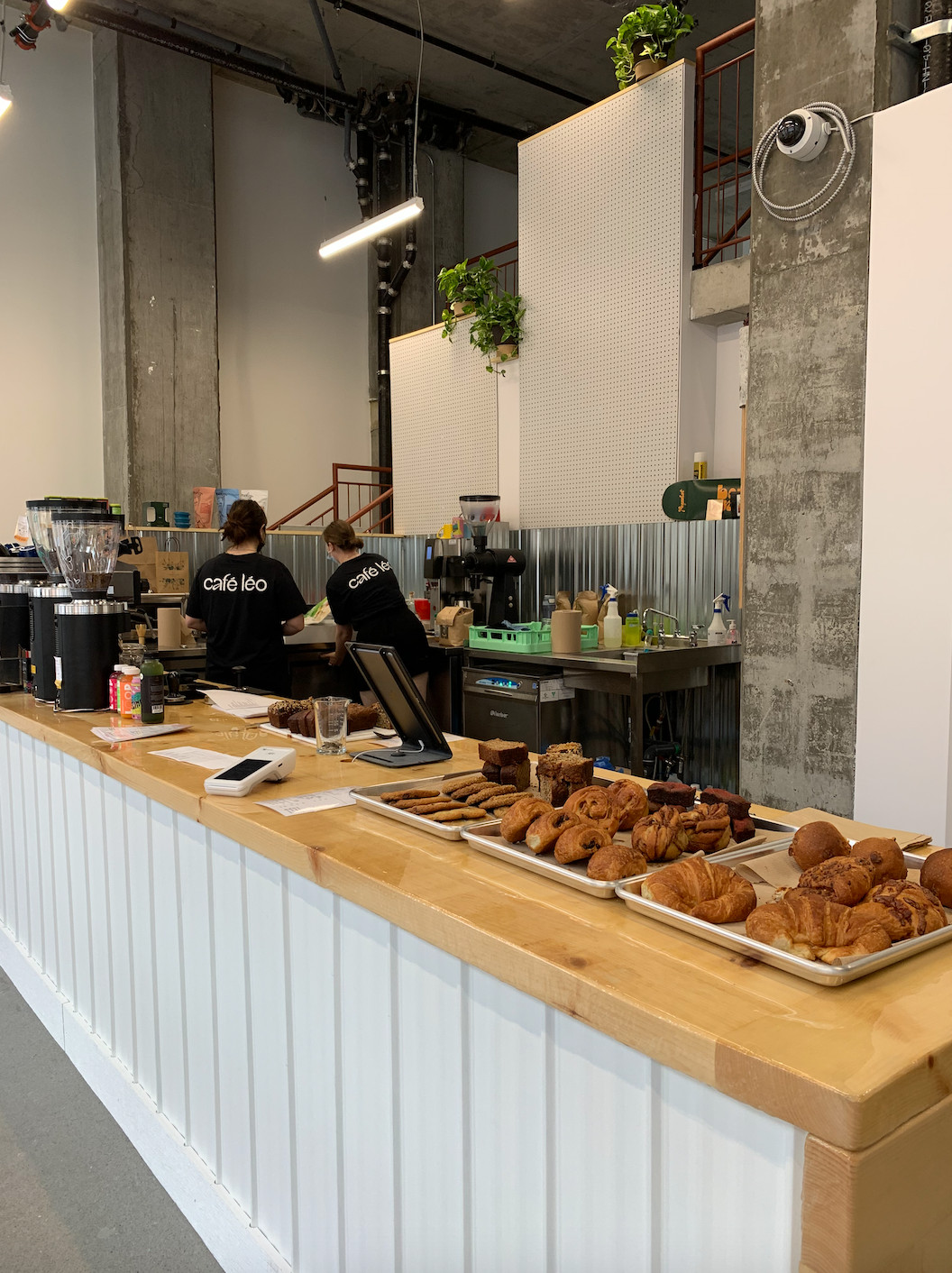 coffee counter with baked goods