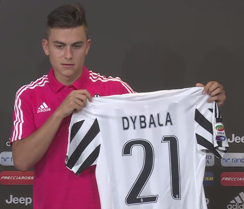 juventus summer signee paulo dybala says he will wear no 21 this
