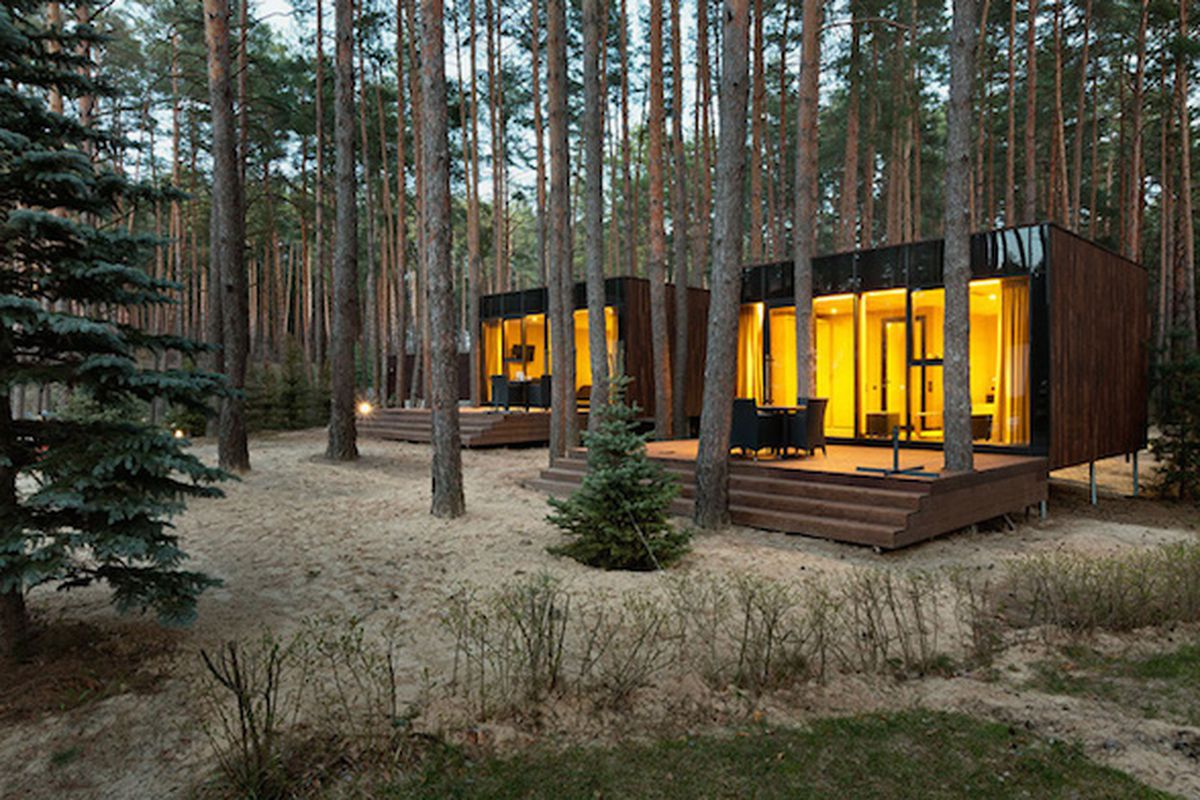 vacation beckons at these ultra zen modern cabins curbed