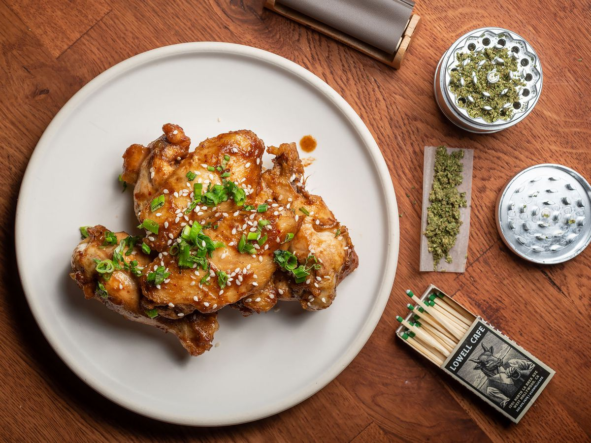 Lowell Cafe's sticky tamarind wings