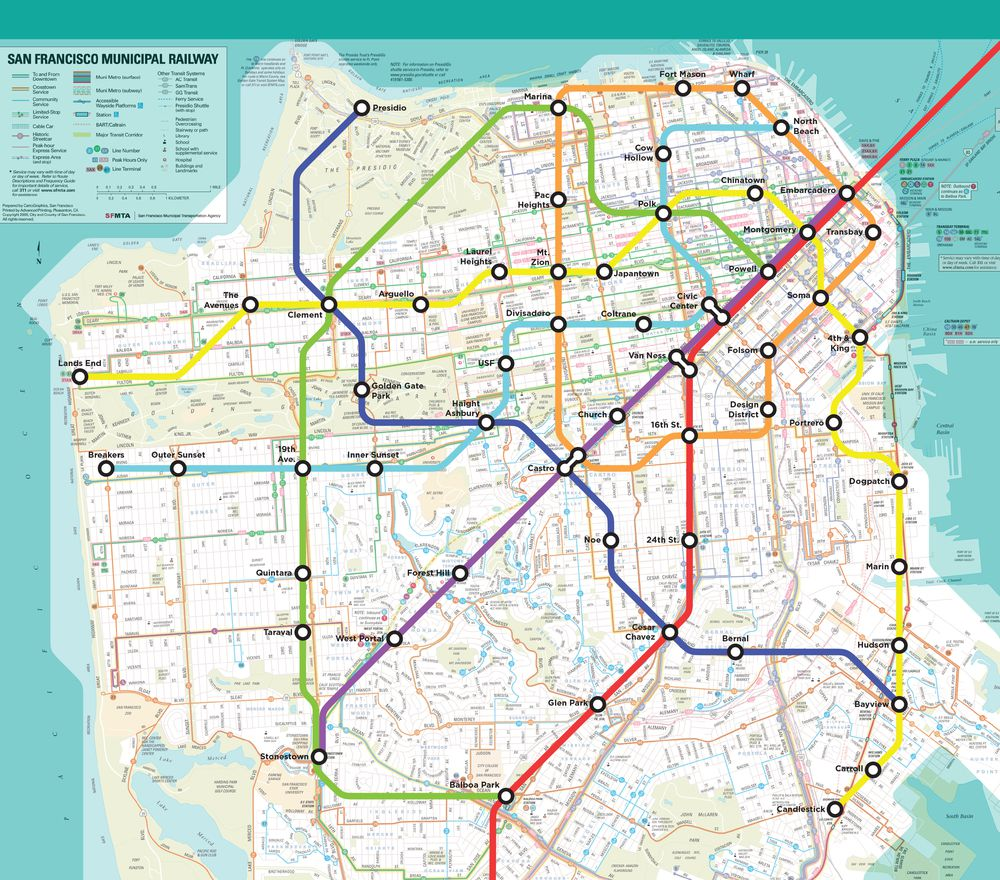 Ideal Nyc Subway Map Efficient.Wouldn T It Be Glorious If This Fantasy San Francisco Bart Map Were