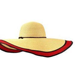 """<a href= """"http://www.echodesign.com/shop/straw-floppy-hat-w-contrast-brim-1.html""""> Echo Designs straw floppy hat with contrast brim,</a> $58.00, echodesigns.com"""