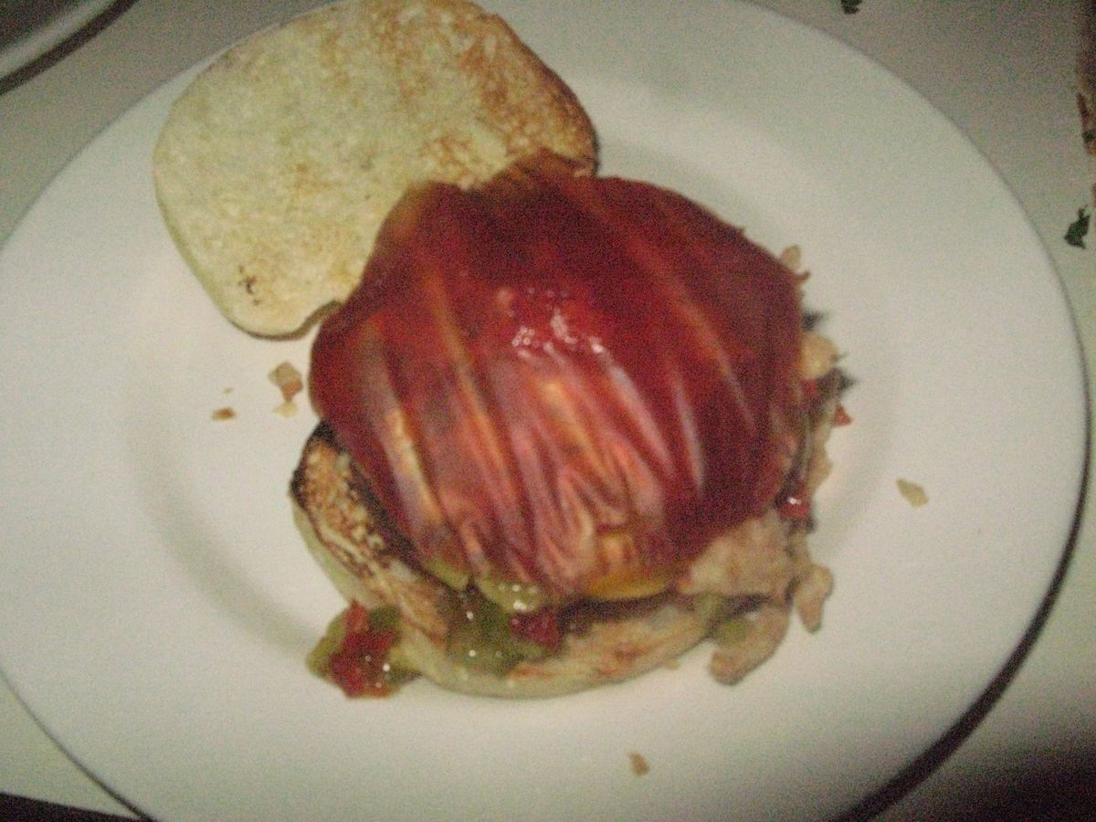 Burger with Ketchup Leather