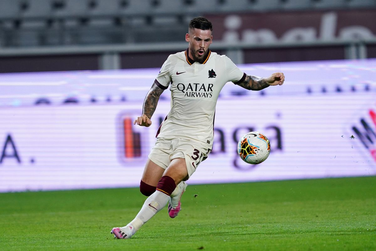 Carles Perez of As Roma in action during the Serie A match...