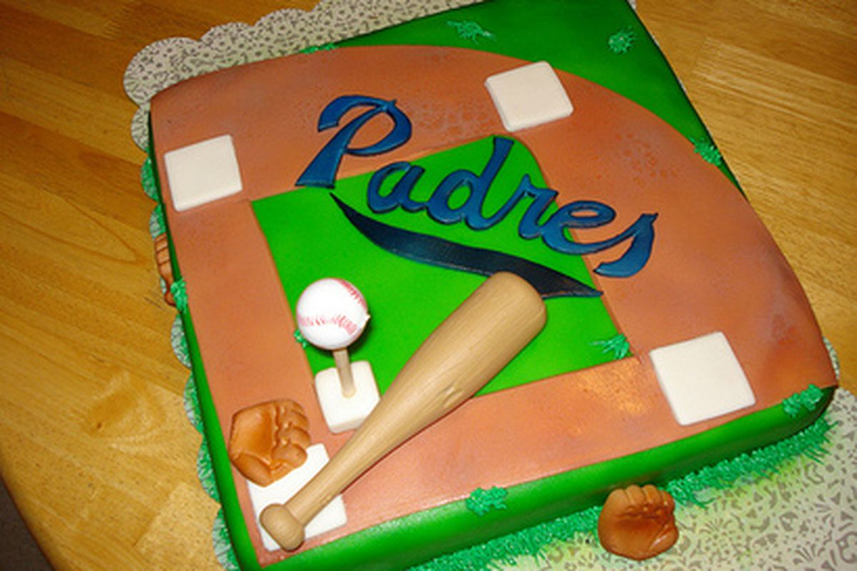 """No, I did not make this Padres birthday cake.  But let's pretend I did.  Happy Birthday, <a href=""""http://www.sbnation.com/users/Dex"""" target=""""new"""">Dex</a>!!  May our Padres get a victory in you...r honor."""
