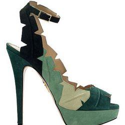 Leaf Me Alone Sandal (Green): $1,395