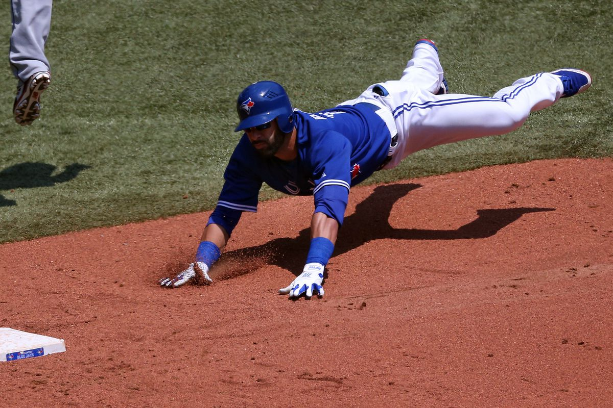 You will believe a right fielder can fly.  (Photo by Tom Szczerbowski/Getty Images)