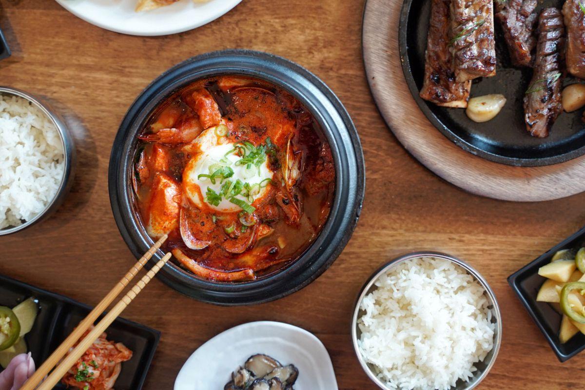 Choga Soondubu's spicy Korean soft tofu stew