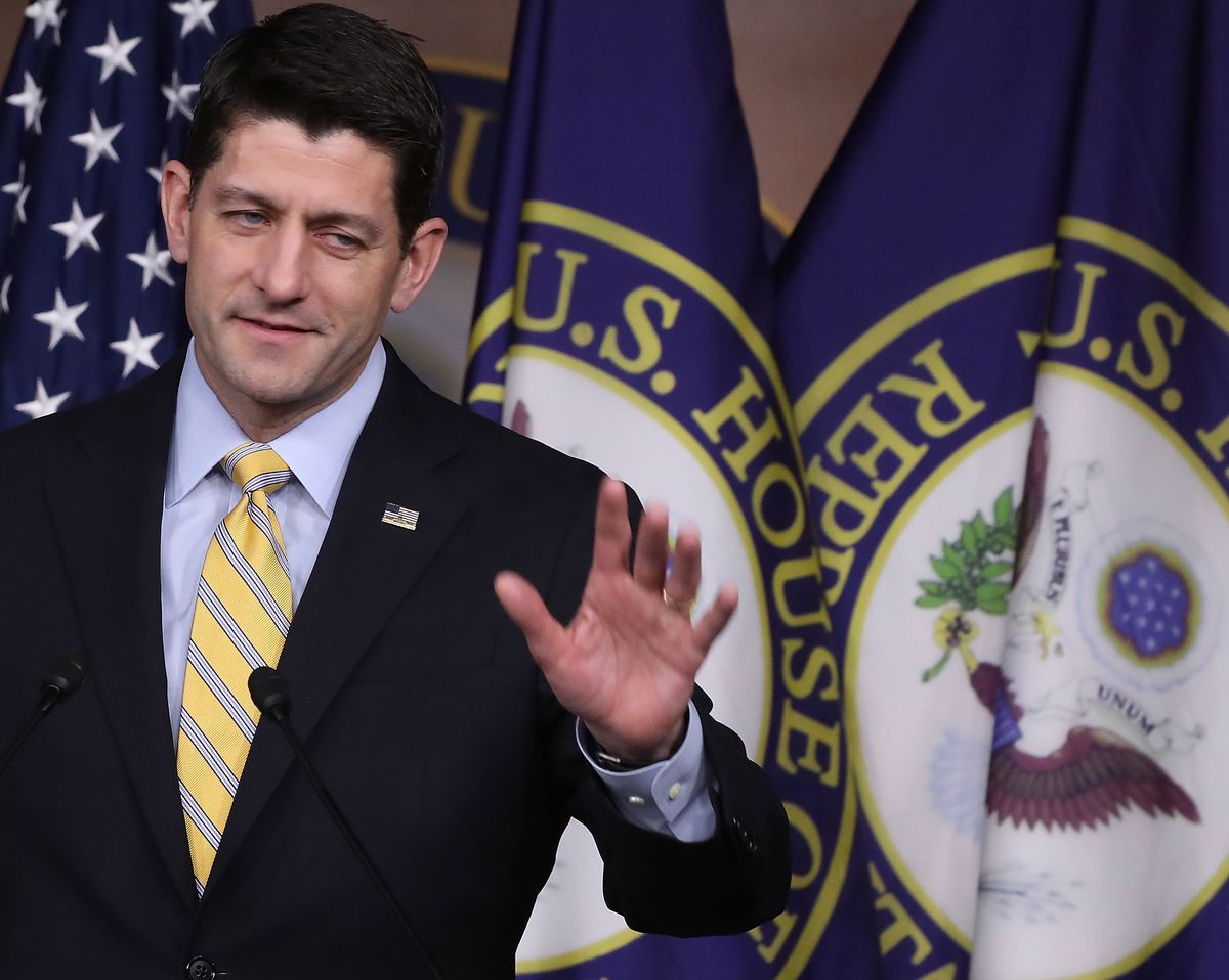 Paul Ryan Holds Weekly Press Briefing At The Capitol