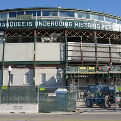 10:38 a.m. Another look at the front of the ballpark -