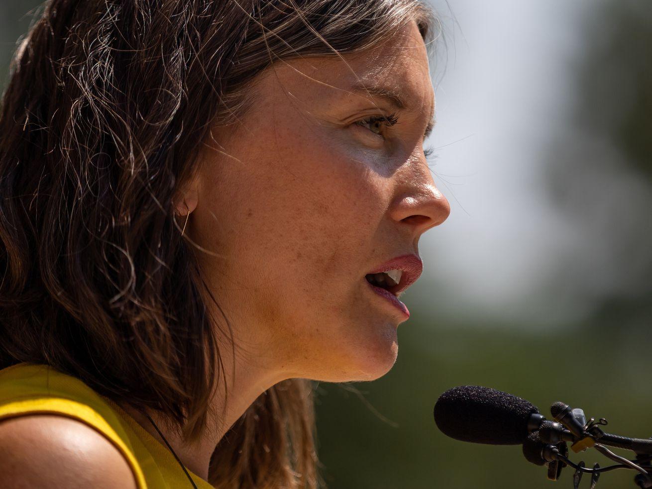Salt Lake City Mayor Erin Mendenhallspeaks about the need for emergency shelter beds.