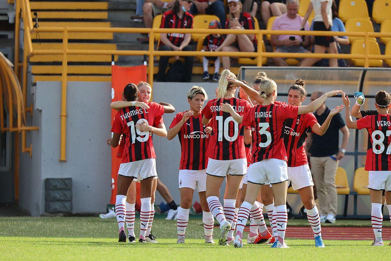 AC Milan Women Held 1-1 By FC Gintra In First Pre Season Friendly