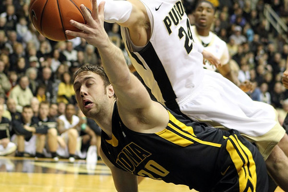 The Big10 Title race used to look ugly for Purdue.  Almost as ugly as Iowa's Andrew Brommer.  Things are looking much, MUCH better now.  (Photo by Andy Lyons/Getty Images)