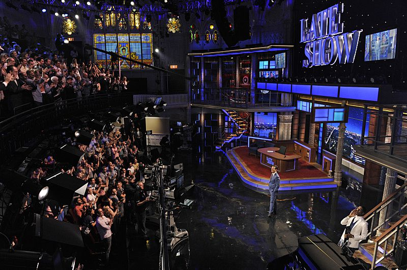 The Late Show with Stephen Colbert's set.