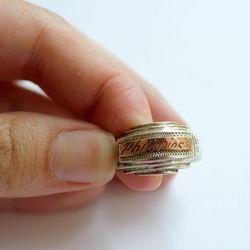 World War II sterling silver trench art ring, $90