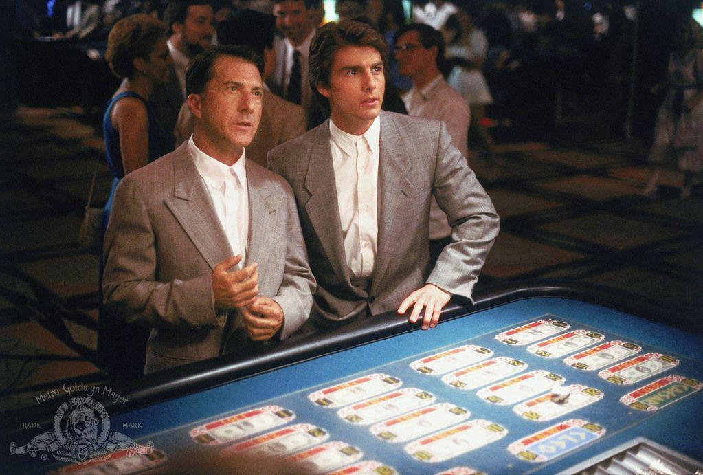 Dustin Hoffman and Tom Cruise in 'Rain Man'