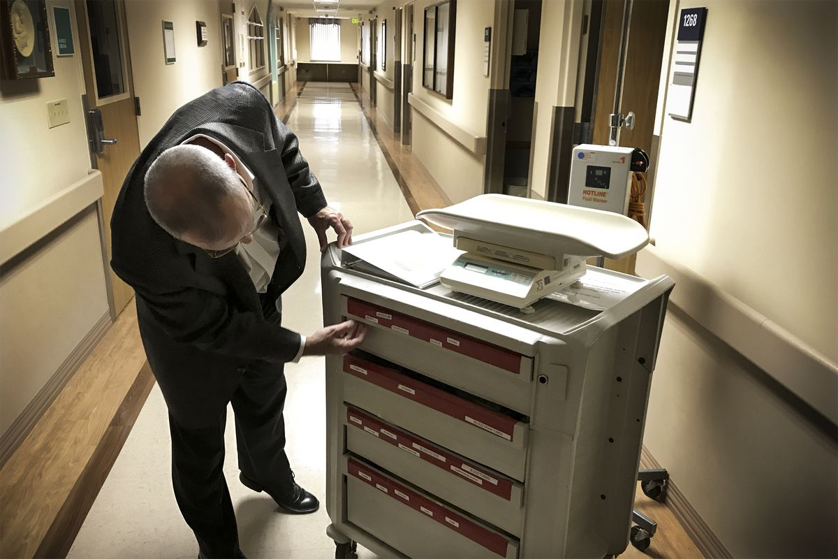"""The """"hemorrhage cart"""" is filled with tools doctors and nurses need to manage a hemorrhage during or after childbirth. The idea was adapted from the """"code blue cart"""" to treat cardiac arrest patients. """"Minutes count,"""" Lagrew said."""