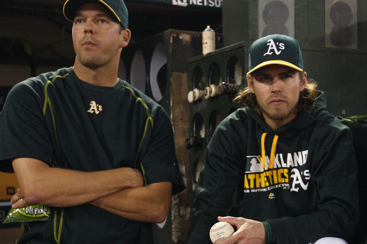 Rich Hill and Josh Reddick (GettyImages)