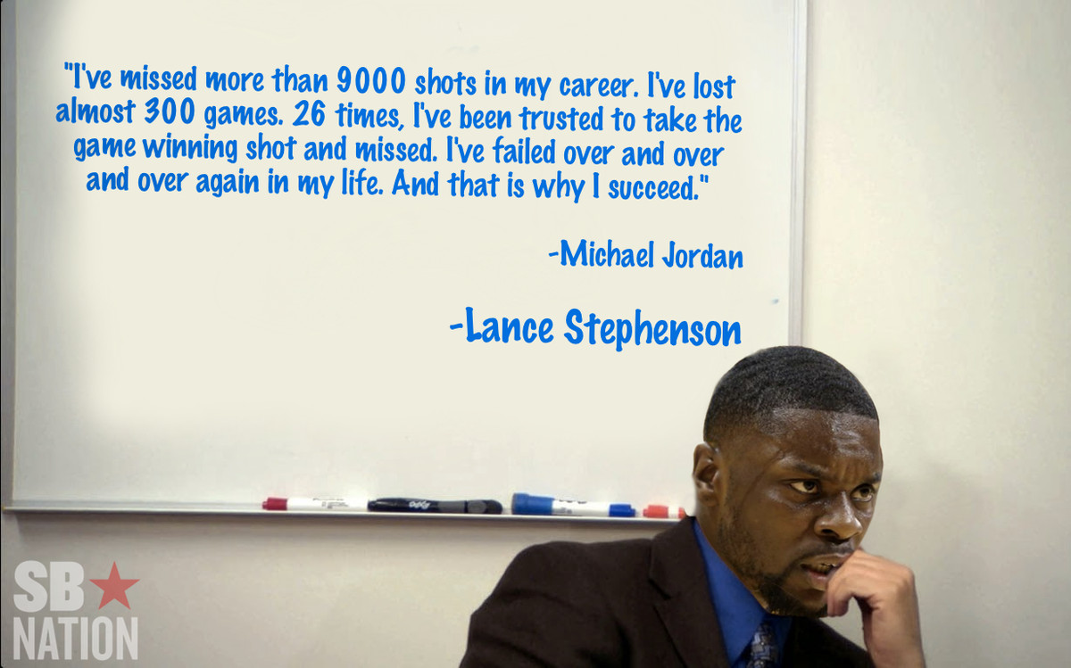 This Lance Stephenson Quote Is Actually A Michael Jordan Quote