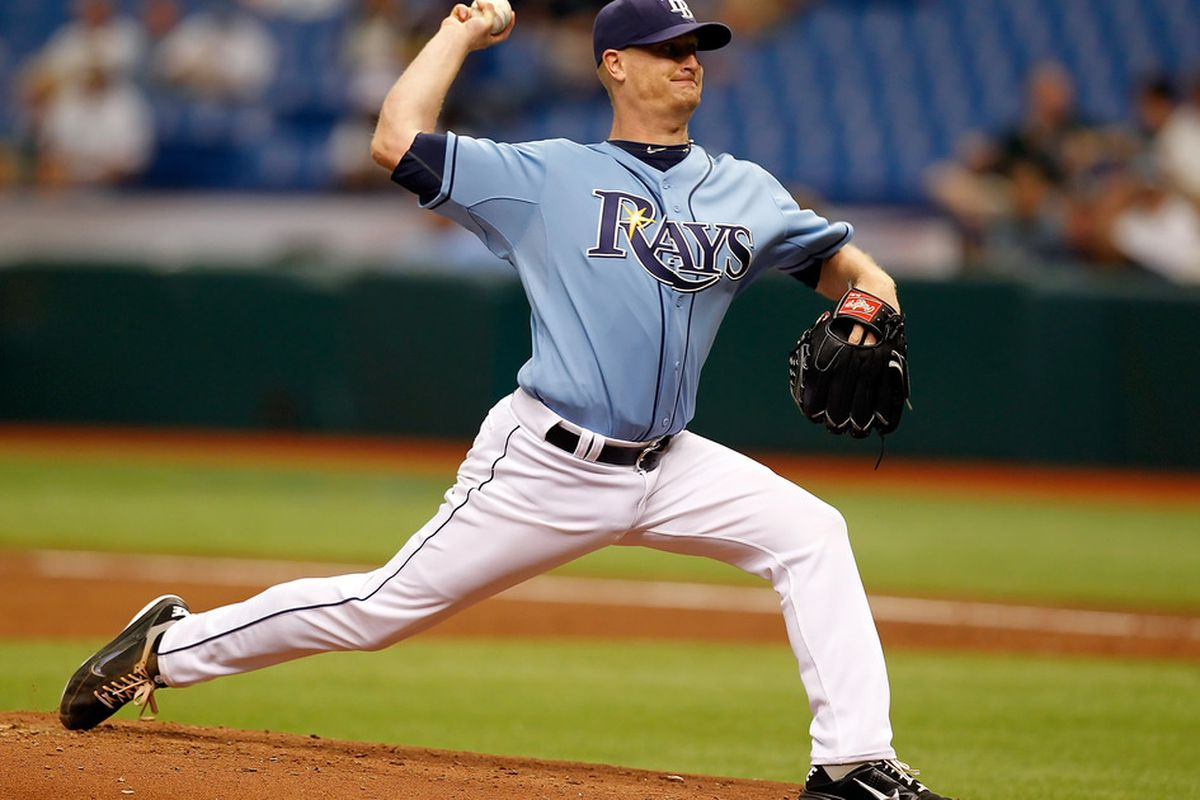 Pitcher Alex Cobb of the Tampa Bay Rays pitches against the Los Angeles Angels of Anaheim during the game at Tropicana Field on May 1, 2011 in St. Petersburg, Florida.  (Photo by J. Meric/Getty Images)
