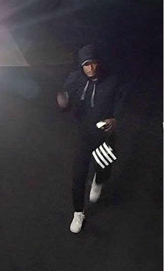 Surveillance image of a suspect in a series of vehicle burglaries this week in Batavia.   Batavia police
