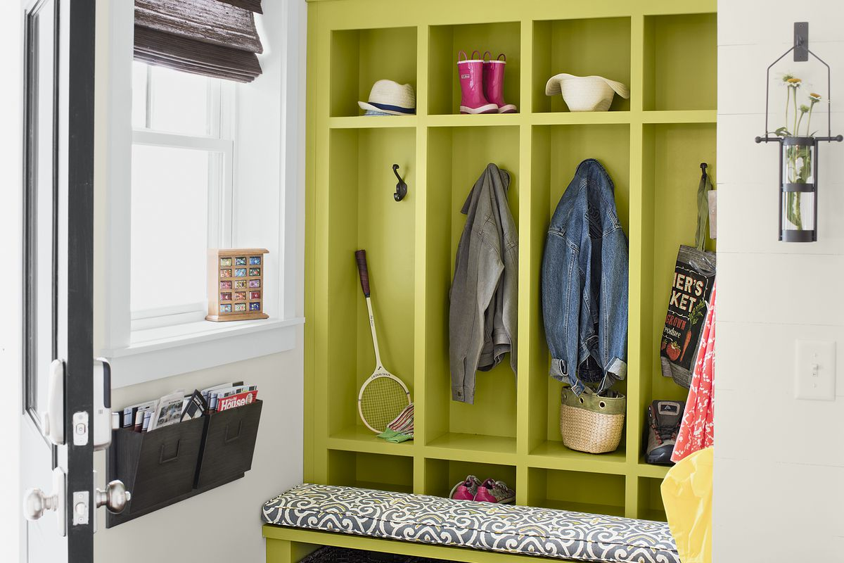 mudroom cubbies at the Emerson Green Idea House 2016