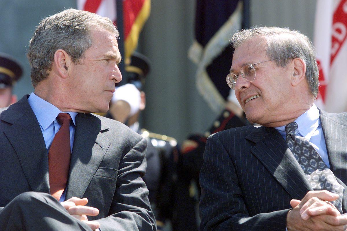 bush and rumsfeld