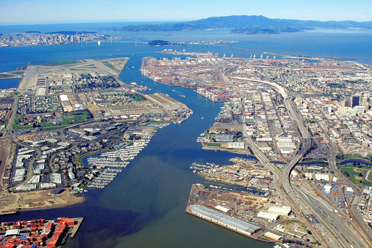 An aerial view of Oakland.