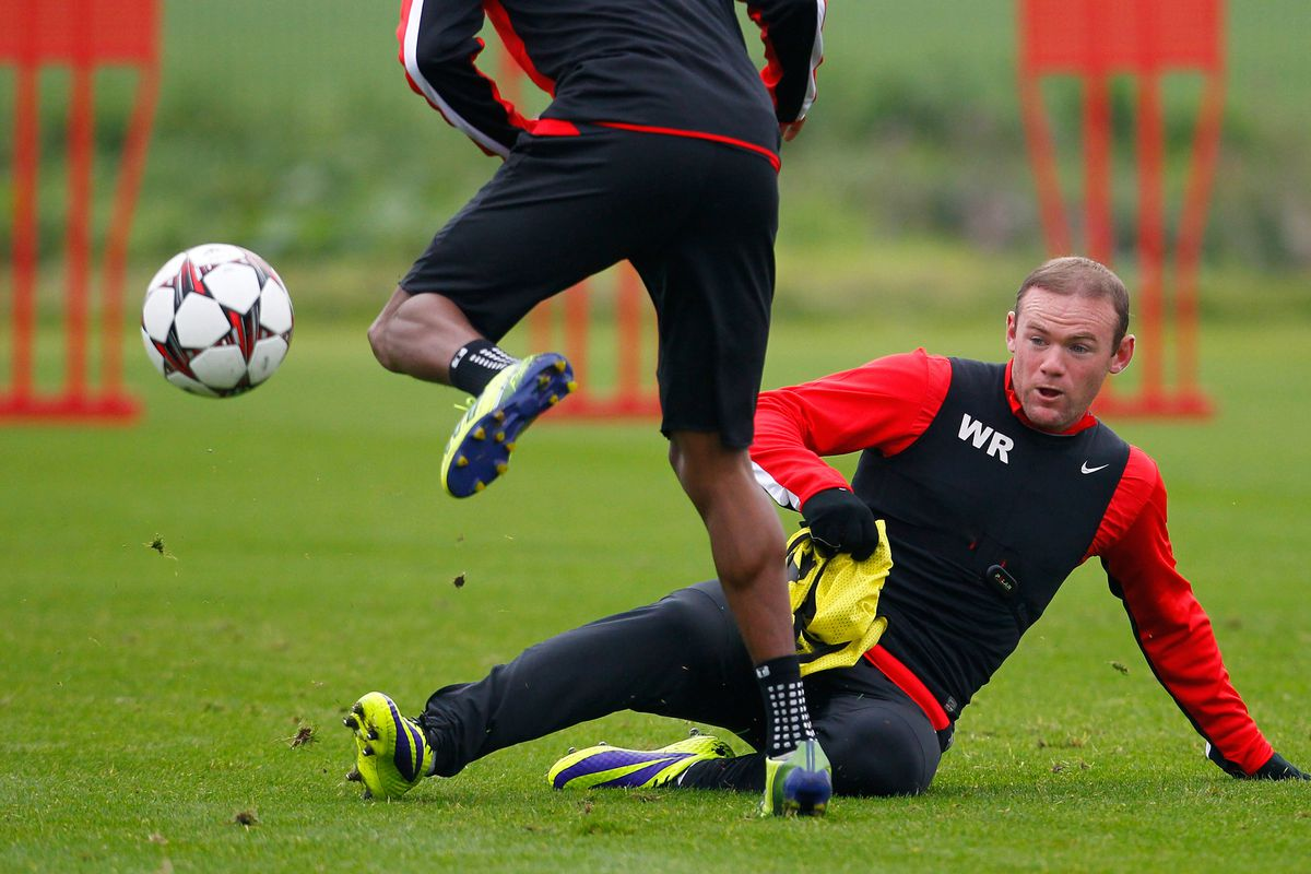 """Maybe Rooney should be wearing """"shin guards"""" in training?"""