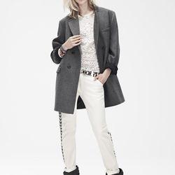 Coat ($299), Top ($99), Pants ($99), Belt ($49.95), Boots ($299)